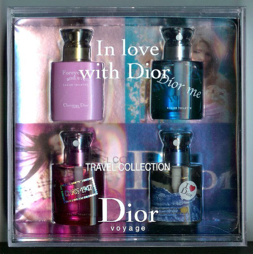 "COFFRET ""IN LOVE WITH DIOR"" - 2003 - COMPRENANT 4 MINIATURES SPRAY"
