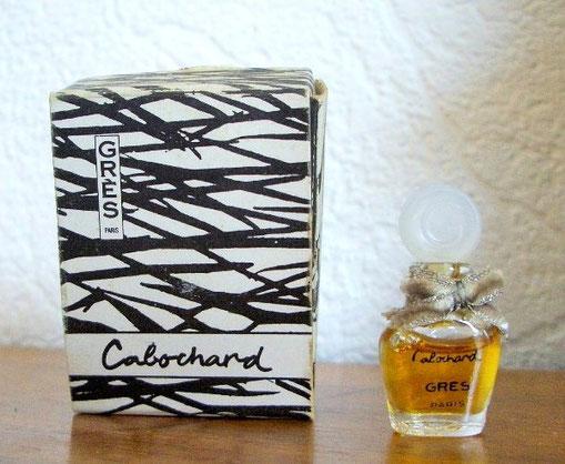 CABOCHARD - PARFUM : PETITE MINIATURE PARFUM ORNEE D'UN NOEUD EN VELOURS