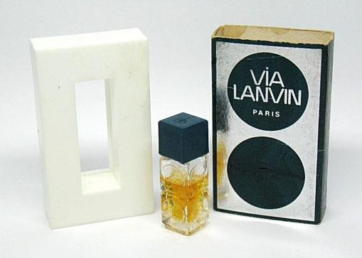 VIA LANVIN -  MINIATURE PARFUM MISE DANS BOÎTE A TIROIR EN PLASTIQUE