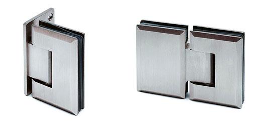 Duschtür Scharniere für Glas