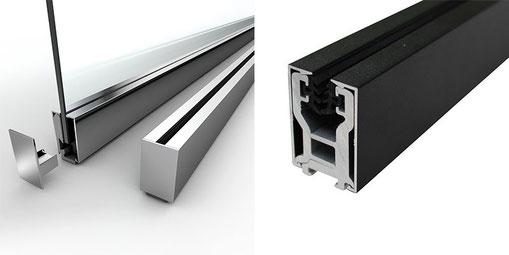 Trennwandprofil für Glaswände