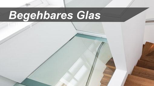 begehbare Glasscheibe aus Sicherheitsglas