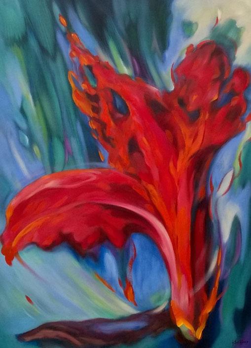 Tropical - Olieverfop doek 80 x 60 cm
