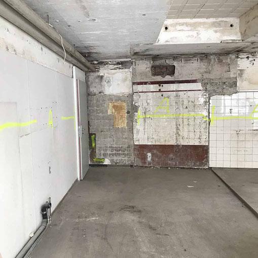 Ansicht der Baustelle nach dem ausräumen der Installationen
