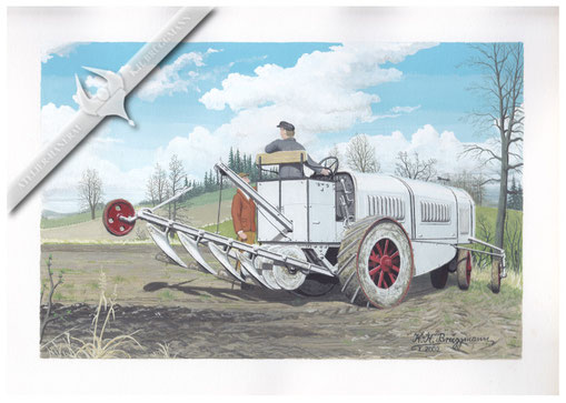 Pöhl Gelenkpflug 1919, Aquarell.