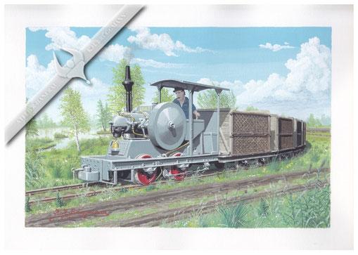 Lanz Kleinlokomotive auf HL Basis, 1926, Aquarell
