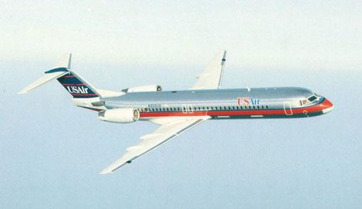 USAir waren einst ein großer Betreiber mit 40 Fokker 100/Courtesy: Fokker