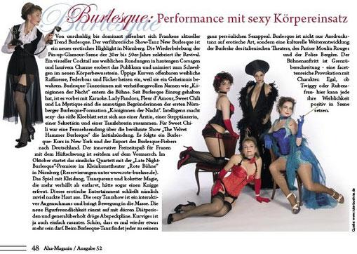 Aha, Boulevard-Magazin Nürnberg, Ausgabe 52, Oktober 2008