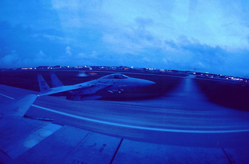 An evening takeoff at Kadena AB, Okinawa.