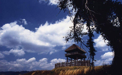 Yoshinogari watchtower, Saga, Japan.