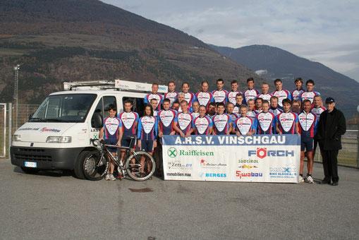 Die Mannschaft des ARSV Vinschgau