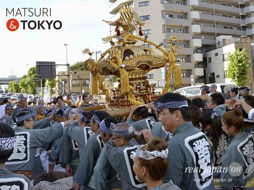 牛嶋神社大祭, 2012年(平成24年) 9月, 業平一丁目町会, 大神輿渡御