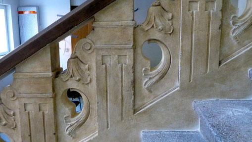 Treppengeländer in Sandsteinoptik II