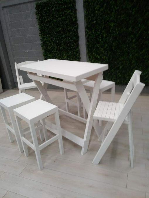 Mesa periquera alta con 4 bancos 2 sillas comedor mardam - Mesa alta comedor ...