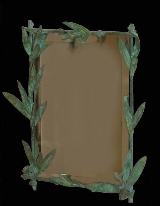 Bronz şi oglindă, 53 x 43 cm