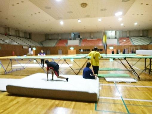 倉吉市トランポリン競技「ポップコーン」