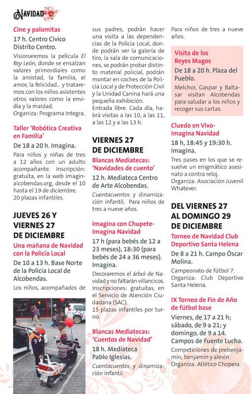 Navidad en Alcobendas San Silvestre y Reyes Magos