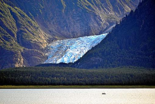 Auch hier wieder Gletscher bis zum Meer.