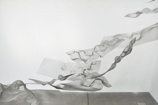 Axel Anklam, Boreaden, 2012_2020, Rauminstallation, Edelstahl, Größen variierend, Edition