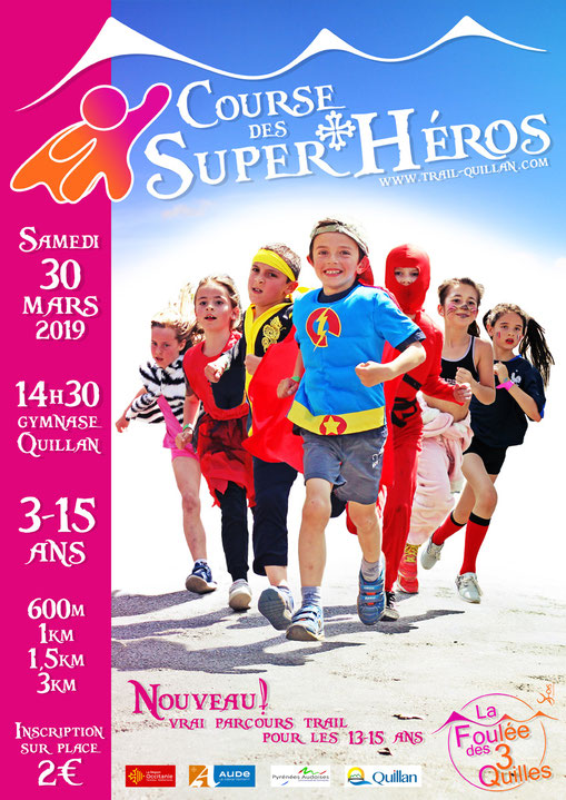 Course des SuperHéros - course enfants - Trail Quillan 2019