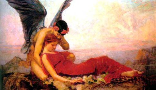 Dans les bras de Morphée divinité du rêve et fils d'Hypnos