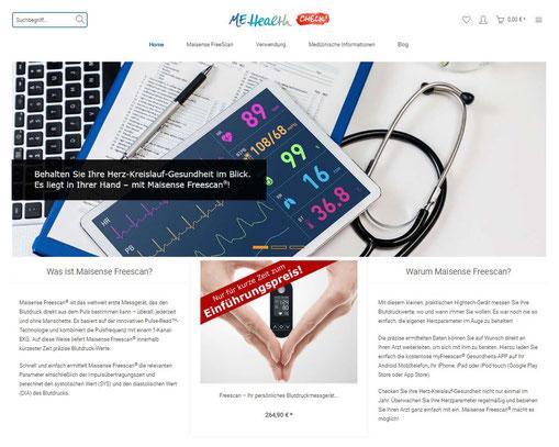 Webseite www.mehealthcheck.de für appPeople GmbH