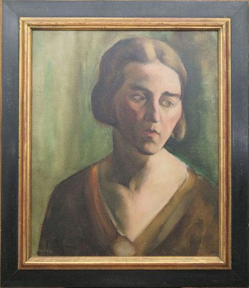 te_koop_aangeboden_een_portret_schilderij_van_de_bergense_school_kunstschilder_toon_kelder_1894-1973