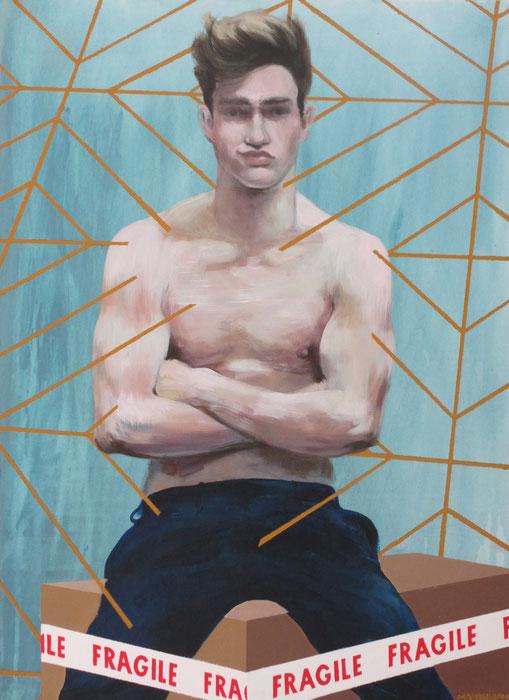 """""""Saint Sébastien"""" 4, 2014, 100x73 cm, acrylique sur toile ©"""