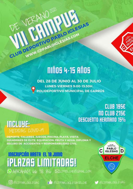 El VII Campus de Verano C.D. Pablo Iglesias 2021 incorpora medidas anti COVID-19 para que pequeños y mayores se diviertan seguros.