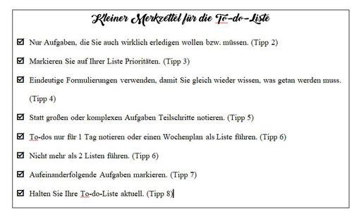 Merkzettel für die To-do-Liste