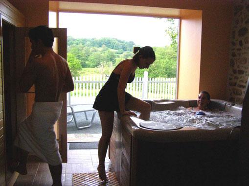 vacances en famille, piscine chauffée