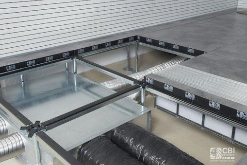 Recuperatore di calore per installazione sottopavimento