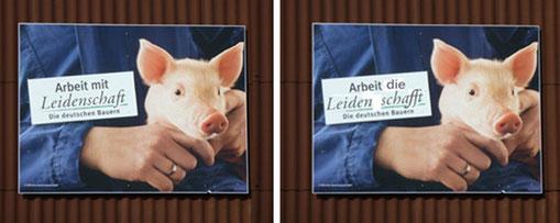 Auch in Trittau ist das Propaganda-Plakat vom Deutschen Bauernverband zu sehen - Foto: BI
