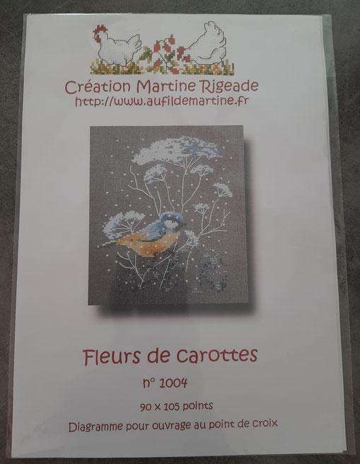 broderie fleurs de carottes : univers emylila