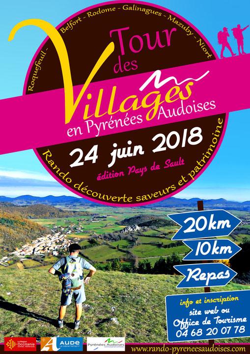 Tour des Villages en Pyrénées Audoises 2018