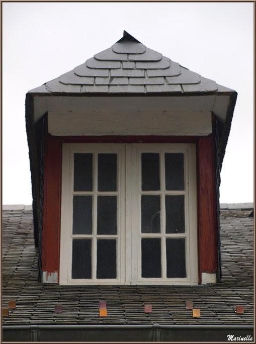 Fenêtre en chien-assis dans le village d'Aas, Vallée d'Ossau (64)
