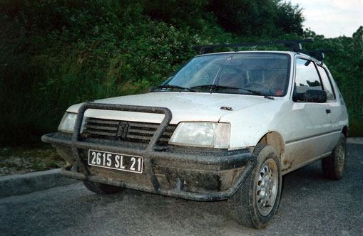 PEUGEOT 205 OFF ROAD PARE BUFFLE RALLYE COURSE DESERT