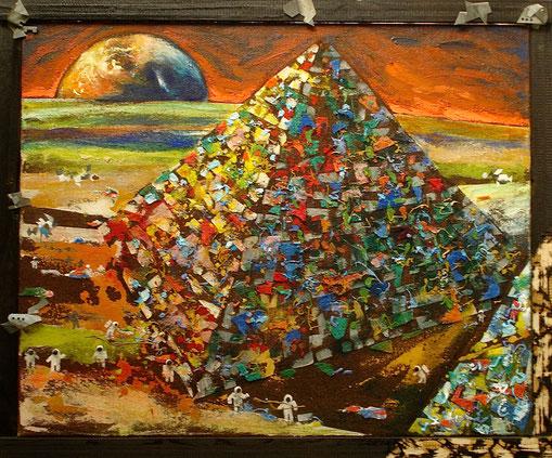 Paysage lunaire n°1, Format 110x90