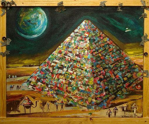 Paysage lunaire n°2, Format 90x100