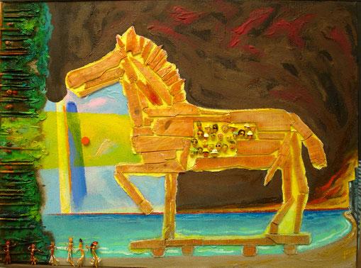Le Cheval de Troie, Format 162x130
