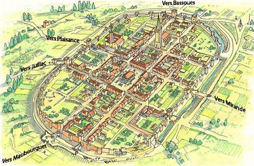 La Bastide de Marciac Rivière-Basse Gers au 15éme siècle XV siècle