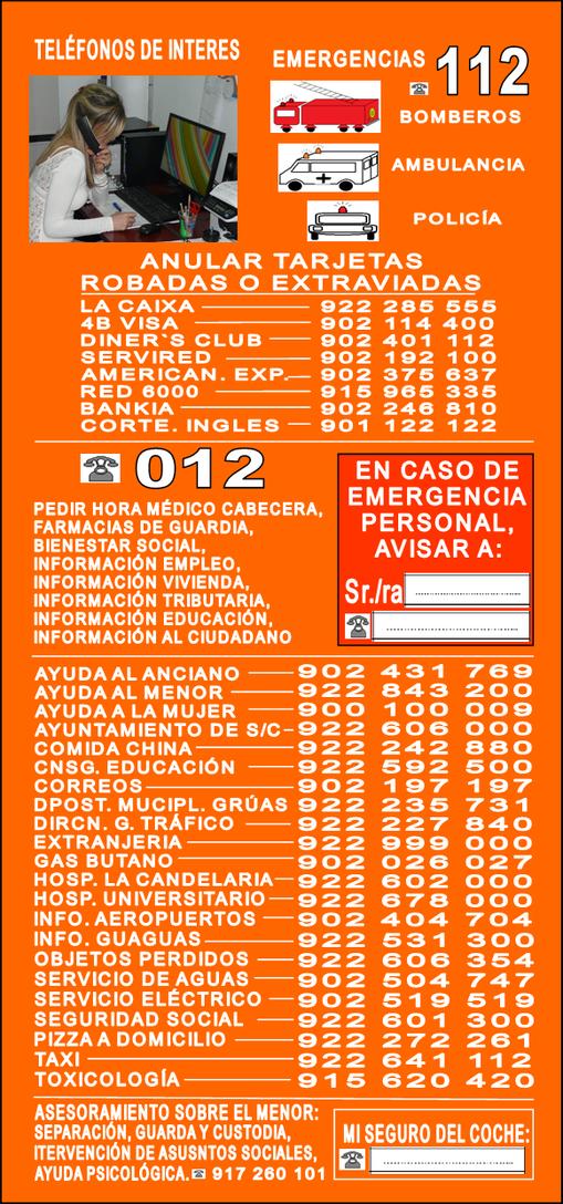 Teléfonos de interés Tenerife