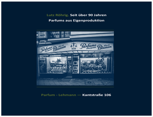 Berlin. Parfum - Lehmann. Kantstraße. Titelblatt