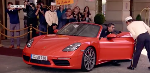 Commercial: Porsche -   Patrick Dempsey's way of arriving at a hotel driveway.   / Director: Daniel Lwowski / Production: Katapult Filmproduktion GmbH / Year: 2016