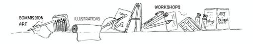 art commission  Erna Sinnige potlood en pen