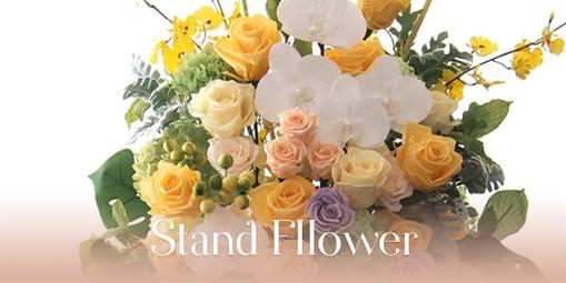 プリザーブドフラワーのスタンドお祝い花