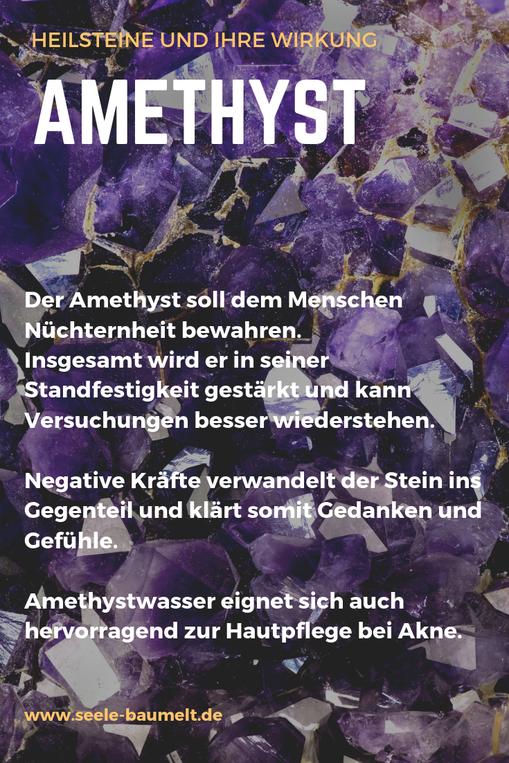 Heilwirkung von Heilsteinen: Amethyst