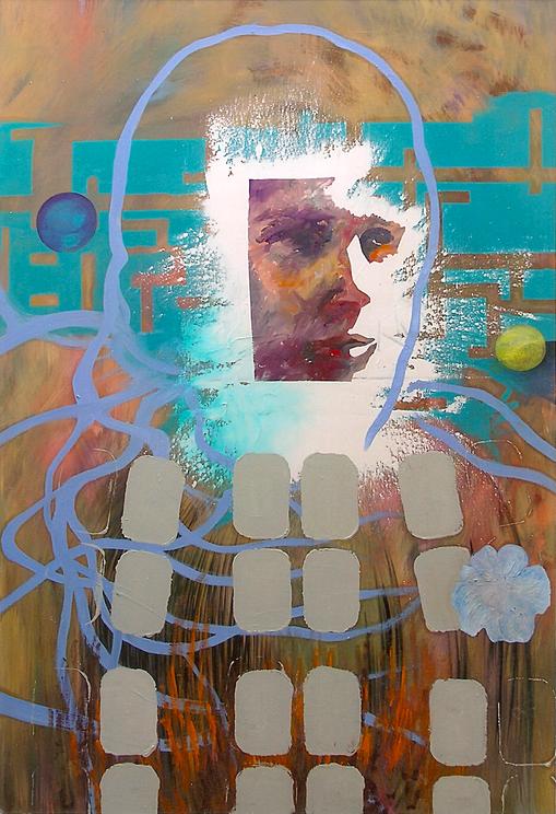 Kosmonaut, 2005. (Acryl / Öl / Leinwand, 100 x 70 cm)