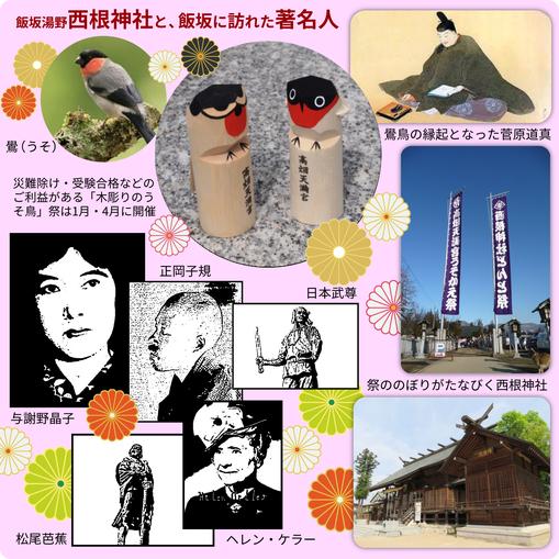 飯坂湯野 西根神社と、飯坂に訪れた著名人