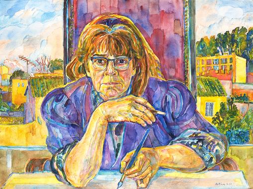 Bettina Heinen-Ayech (1937-2020): Selbstbildnis, 1997